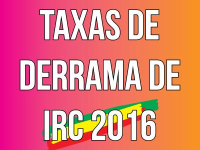 Taxas de Derrama de IRC